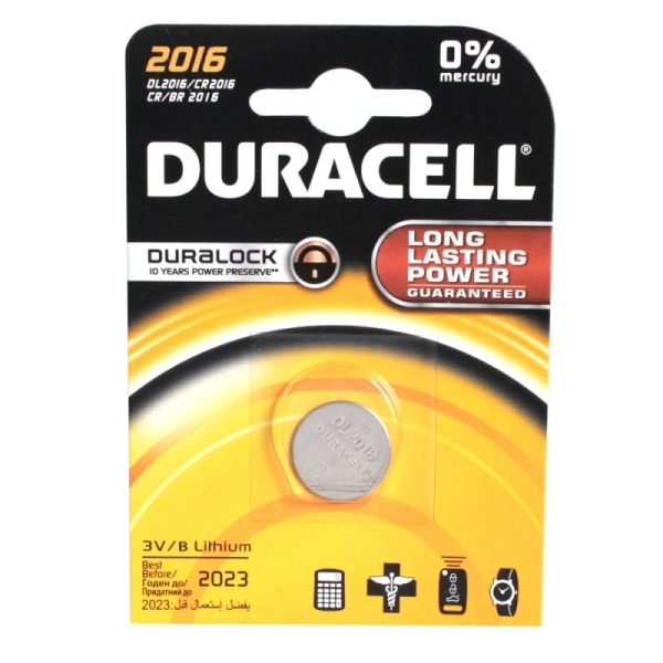 Батарейка DURACELL CR2016 BP1 3В (4815)