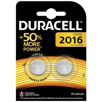Батарейка DURACELL CR2016 BP2 3В (37271)