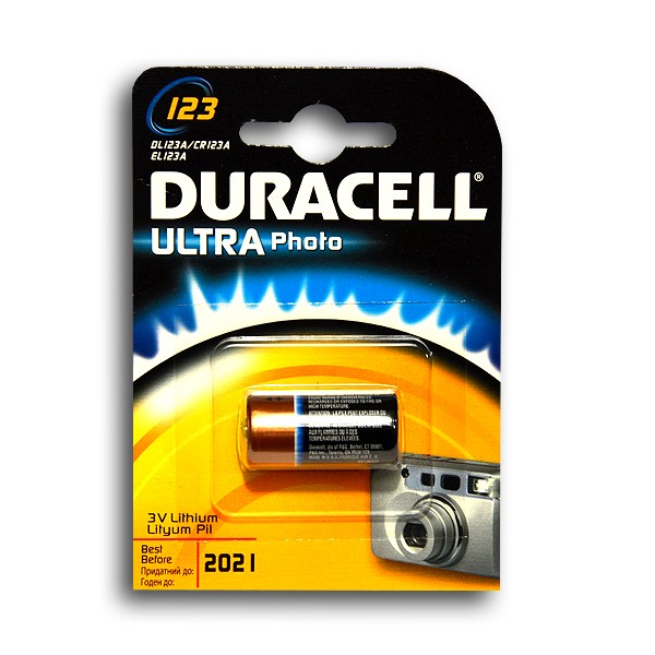 Батарейка DURACELL CR123 BP1 3В (1263)
